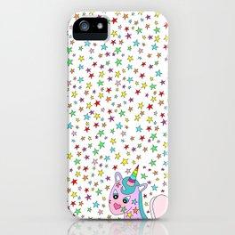 Rainbow the Unicorn Starstruck iPhone Case