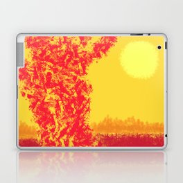 Red Tree, Hot Yellow Sun Laptop & iPad Skin