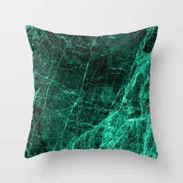 ABSTRACT TURQUOISE BLACK Throw Pillow