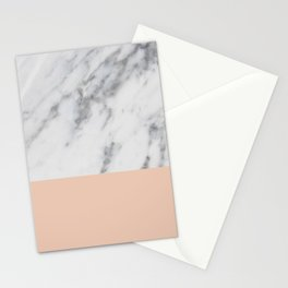Marble and Blush Pink Stationery Cards