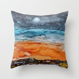 Sunrise in the City Throw Pillow