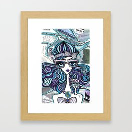 Positive Art and Girls with Owls Art Decor Collection: Isabel Framed Art Print
