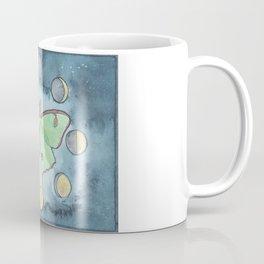 Luna Moth and Lunar Phases Coffee Mug