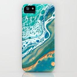 Acrylic Coastal Pour iPhone Case