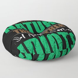 Nature Conservation Nature Lovers Nature Floor Pillow