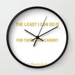 Save Wildlife Ape Animal Rescuer And Lover Gift Wall Clock