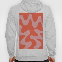 Wavy Land - Pink And Red Hoody
