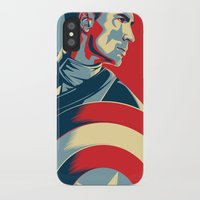 avenger iPhone & iPod Cases featuring The First Avenger by Olivia Desianti