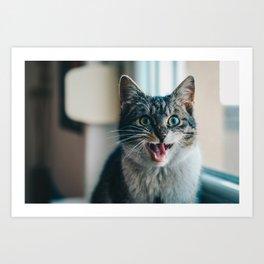Blep Kitty Art Print
