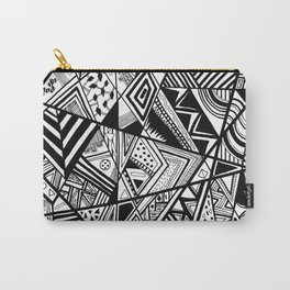 Black and White Navajo Abstract Carry-All Pouch