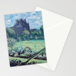 Jardin du Tuileries - Paris, France - Acrylic Painting Stationery Cards