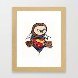 Super Sloth Framed Art Print