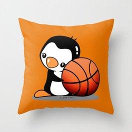 Basketball Penguin Throw Pillow