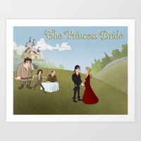 princess bride Art Prints featuring The Princess Bride by Joseph  Griffin Art