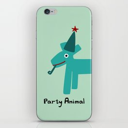 Party Animal-Teal iPhone Skin