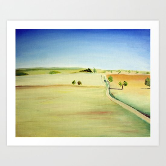 Oil landscape Art Print