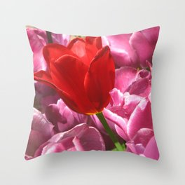 Prima Donna Among The Tulips Throw Pillow