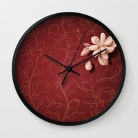 the perks of being a wallflower Wall Clocks featuring The Perks of Being a Wallflower by slewisillustration