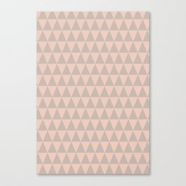 Triangel abstract geometric print - pink Canvas Print