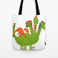 dragon Tote Bags featuring dragon by BruxaMagica_susycosta