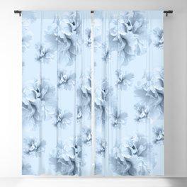 Light Blue Azalea Flower Dream #1 #floral #pattern #decor #art #society6 Blackout Curtain