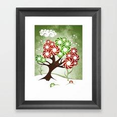 Magic Candy Tree - V2 Framed Art Print