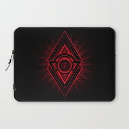 The Eye of Providence is watching you! (Diabolic red Freemason / Illuminati symbolic) Laptop Sleeve