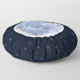 Full Moon Twinkling Stars Floor Pillow
