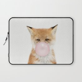 Bubble Gum Fox Laptop Sleeve