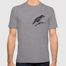 BIRD Mens Fitted Tee Athletic Grey SMALL