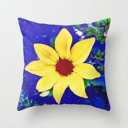 Dahlia in Candie Gardens Throw Pillow