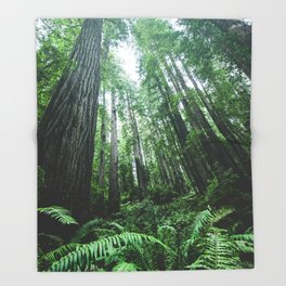 Redwood National Park- Pacific Northwest Nature Photography Throw Blanket