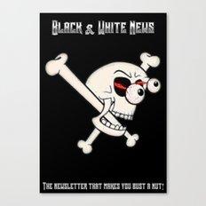 Black & White News Canvas Print