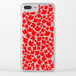 Canadian fall / Canadian flag maple leaf pattern Clear iPhone Case