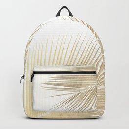 Palm leaf synchronicity - gold Backpack