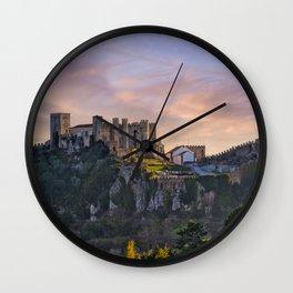 Castelo de Obidos, Estremadura, Portugal Wall Clock
