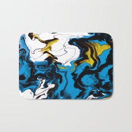 Dreamscape 01 in Blue, White & Gold Bath Mat