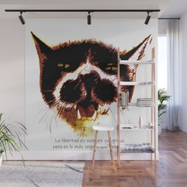 The philosopher and free cat Wall Mural