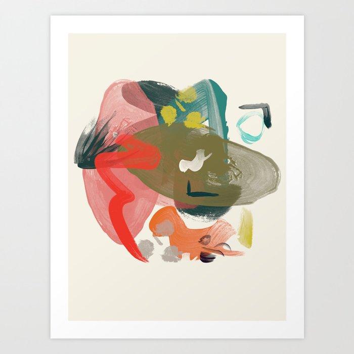 1990 pop abstract Art Print