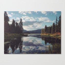 A Serene Lake in Washington Canvas Print