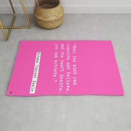 Norman Vincent Peale quote Rug