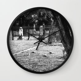 Old Country Graveyard Wall Clock