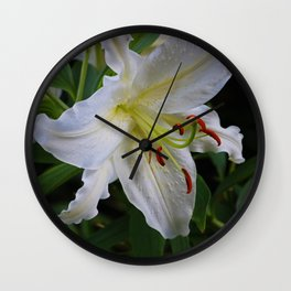 The Lily Lingers Wall Clock
