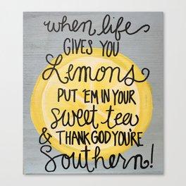 Southern Lemons Canvas Print
