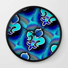 Fleur De Lis Print Wall Clock