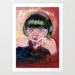 Bisou bisou Art Print