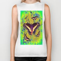butterflies Biker Tanks featuring butterflies  by  Agostino Lo Coco