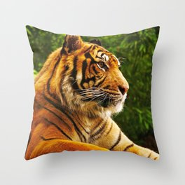 Gracious Fascinating Fearsome Beast Chilling Zoom UHD Throw Pillow