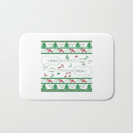 Guitar Christmas Bath Mat
