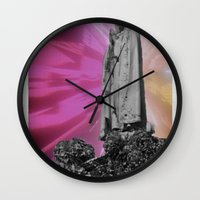 trip Wall Clocks featuring trip by lina